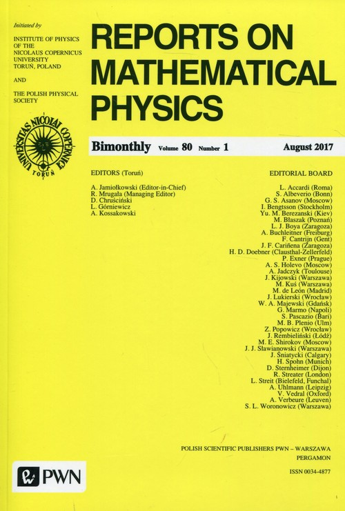 Reports on Mathematical Physics 80/1 2017 Kraj